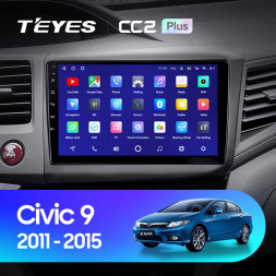 Штатная магнитола Teyes CC2 Plus 4/64 Honda Civic 9 FB FK FD (2011-2015)